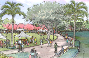 Wildflower and Silver Palm Park concept sketch