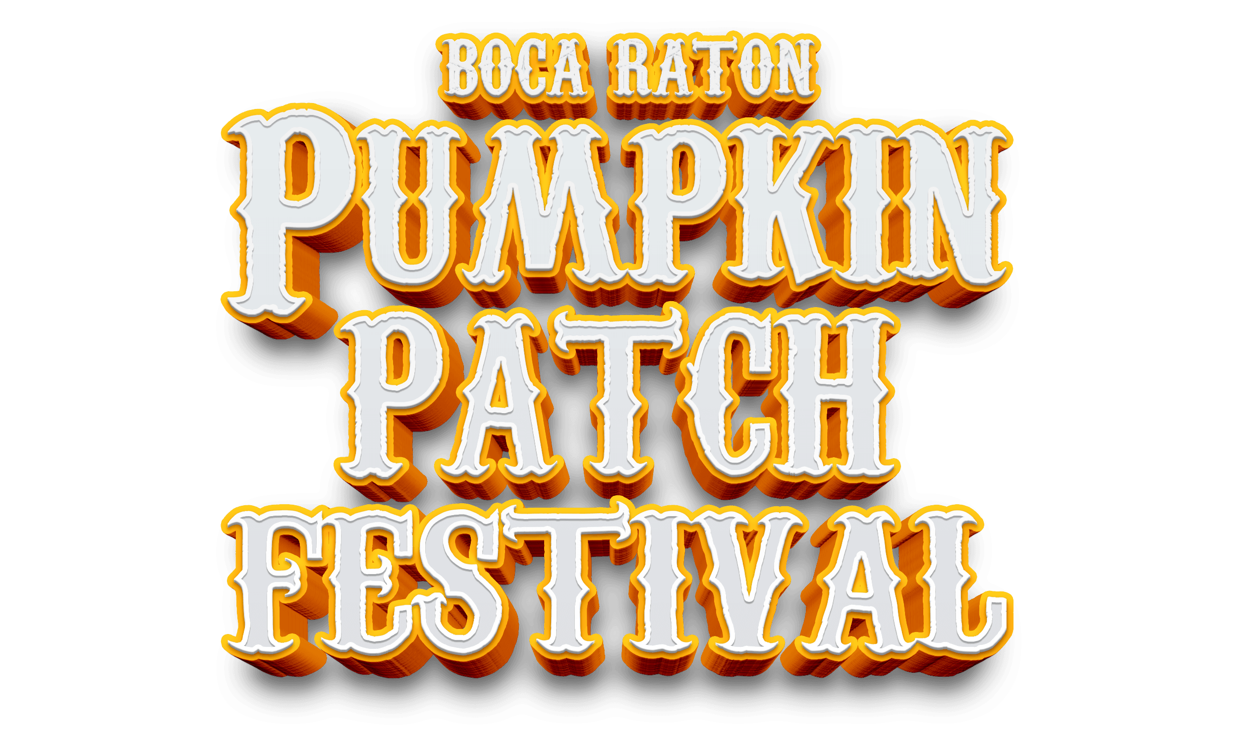 Pumpkin Patch Festival Orange and White Letters