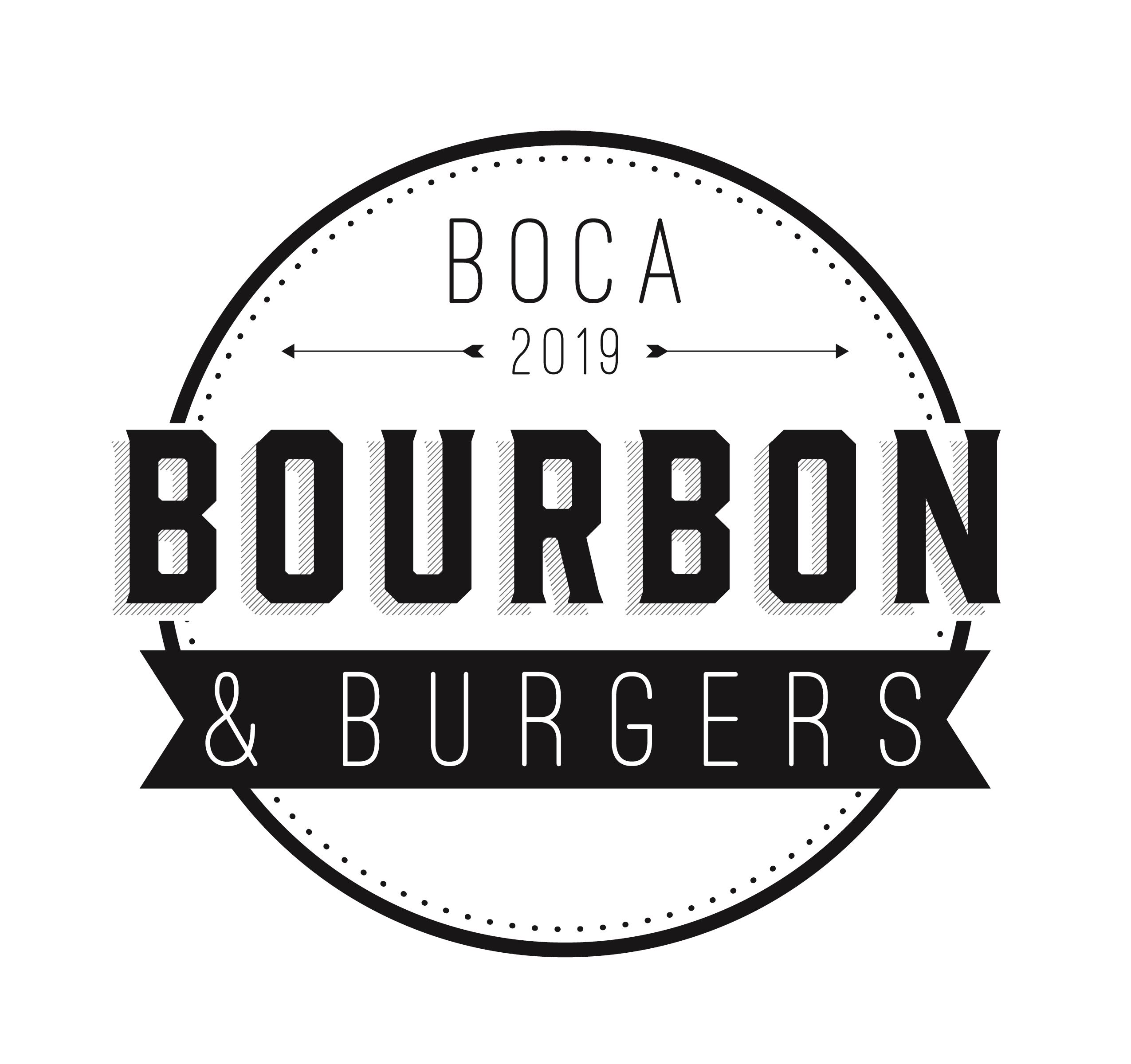 text Boca Bourbon and Burgers