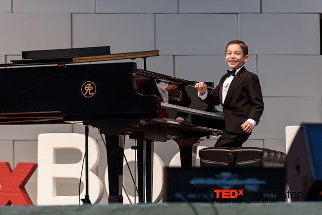 Tedx Boy Playing Piano